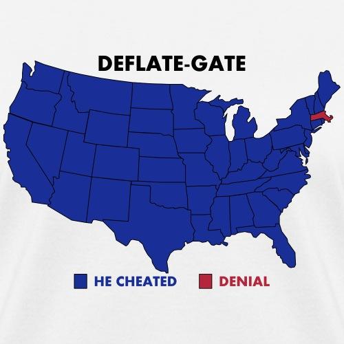 Deflate-Gate USA Map Opinion Poll - Women's T-Shirt
