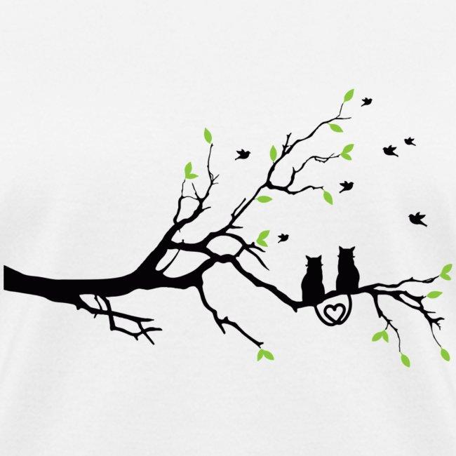 deux chats arbre