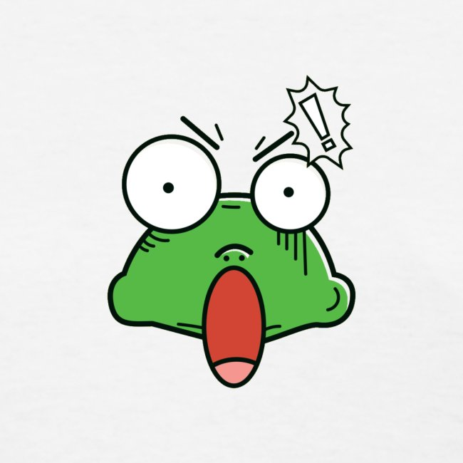 Frog with amazed face expression