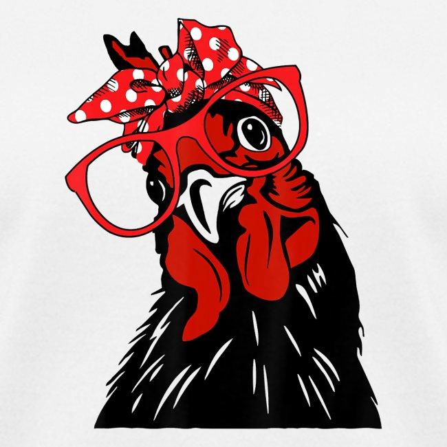 Cute Women Girl Chicken With Bandana Headband and