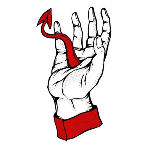 Devil Hand Satanic Aesthetic Grunge Punk Pastel - Women's T-Shirt