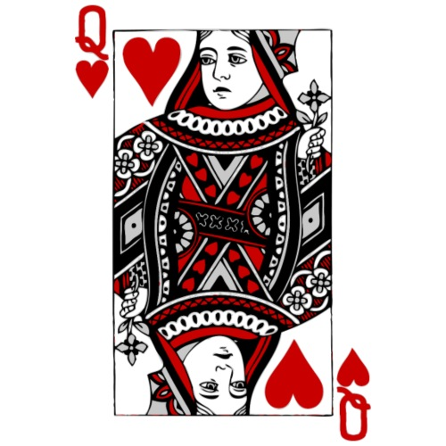 Queen of Hearts Valentine's Day (his and her) - Women's T-Shirt