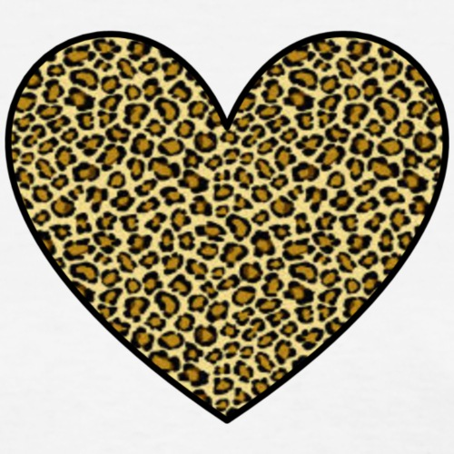 leopard heart png - Women's T-Shirt