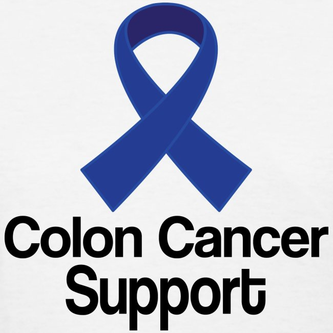 Homewise Shopper Colon Cancer Support Ribbon Womens T Shirt