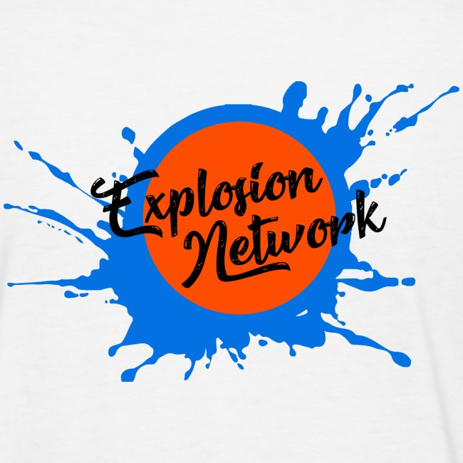 White Explosion Network Logo w/Pocket Splatter Tee