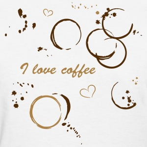Coffee shirt with coffee stains - Women's T-Shirt