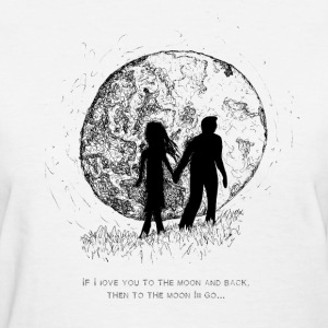 Walking To The Moon - Women's T-Shirt