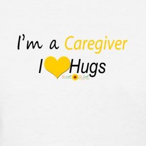 Yellow Caregiver Hugs - Women's T-Shirt