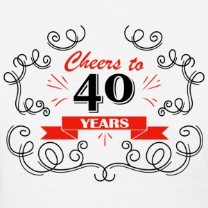 Cheers to 40 years - Women's T-Shirt