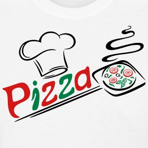 Pizza baker with cooking cap, Italian food. - Women's T-Shirt
