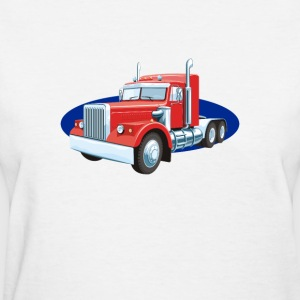 truck lorry car wagon street road - Women's T-Shirt