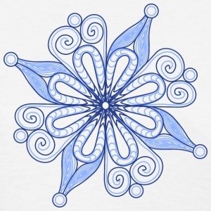 Snow flake - blue - Women's T-Shirt