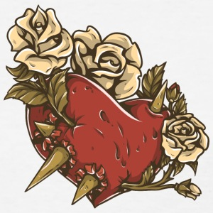 heart_with_roses_and_thorm - Women's T-Shirt