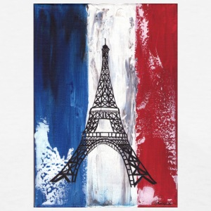 Grunge Paris flag and Eiffel tower - Women's T-Shirt