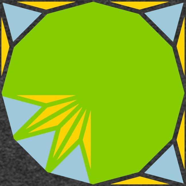 area 12 gon of radius 1 3