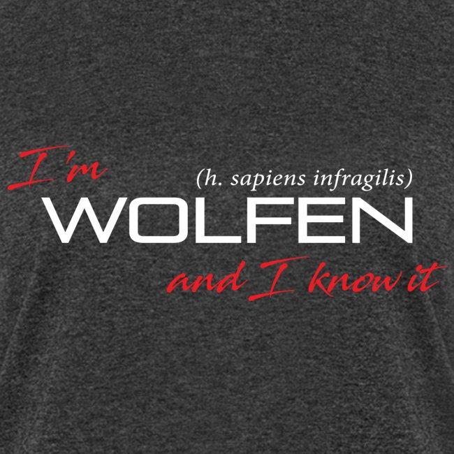 Front/Back: Wolfen Atitude on Dark - Adapt or Die