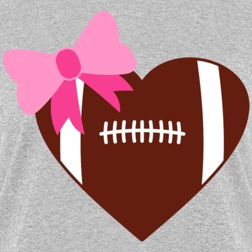 footballheart png - Women's T-Shirt