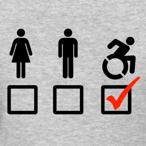 A wheelchair user is also suitable - Women's T-Shirt