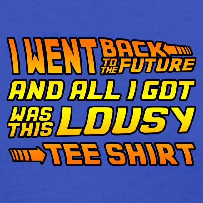 i went back to the future thick outline