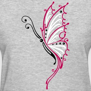 Big filigree butterfly, wings, Tribal Tattoo - Women's T-Shirt