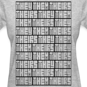 They Them Theirs (Repeating Block) - Women's T-Shirt