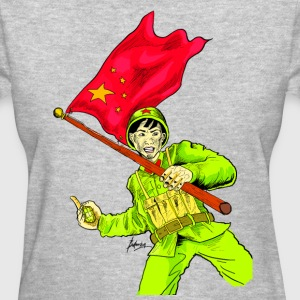 Chinese Soldier With Grenade - Women's T-Shirt