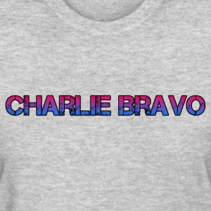Charlie Bravo Plain Text - Women's T-Shirt