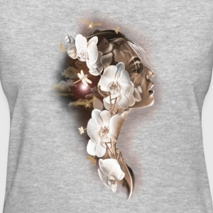 Half face flowers - Women's T-Shirt