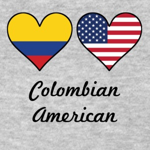 Colombian American Flag Hearts - Women's T-Shirt