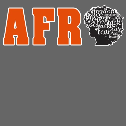 Afro (Orange Text) - Women's T-Shirt