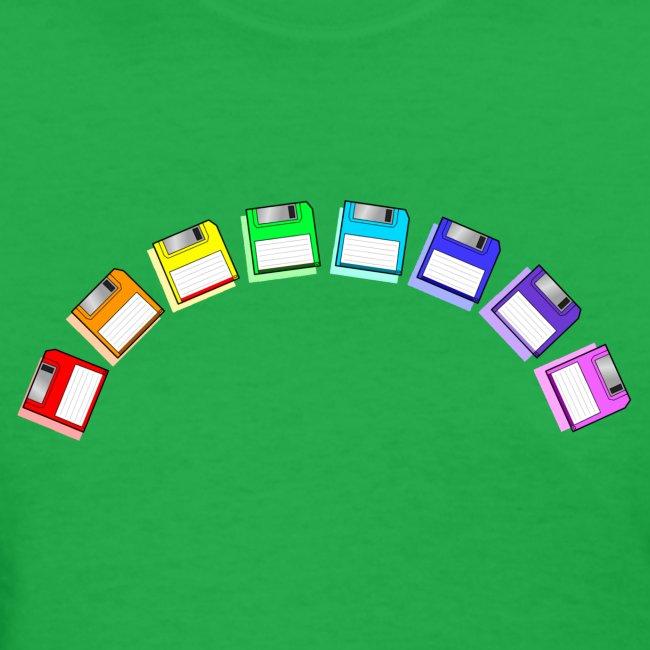 floppy disk rainbow