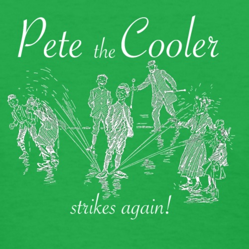Pete the Cooler Strikes Again (white ink) - Women's T-Shirt