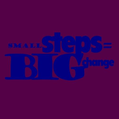 small steps blue - Women's T-Shirt