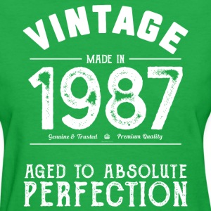 1987 Aged To Perfection 30th Birthday Present - Women's T-Shirt