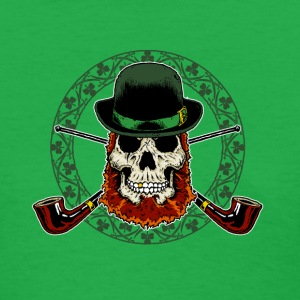 Leprechaun Skull with Crossed Pipes - Women's T-Shirt