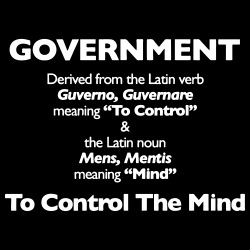 Government: to control the mind