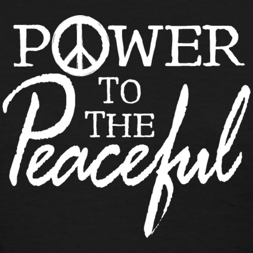 Power To The Peaceful - White - Women's T-Shirt