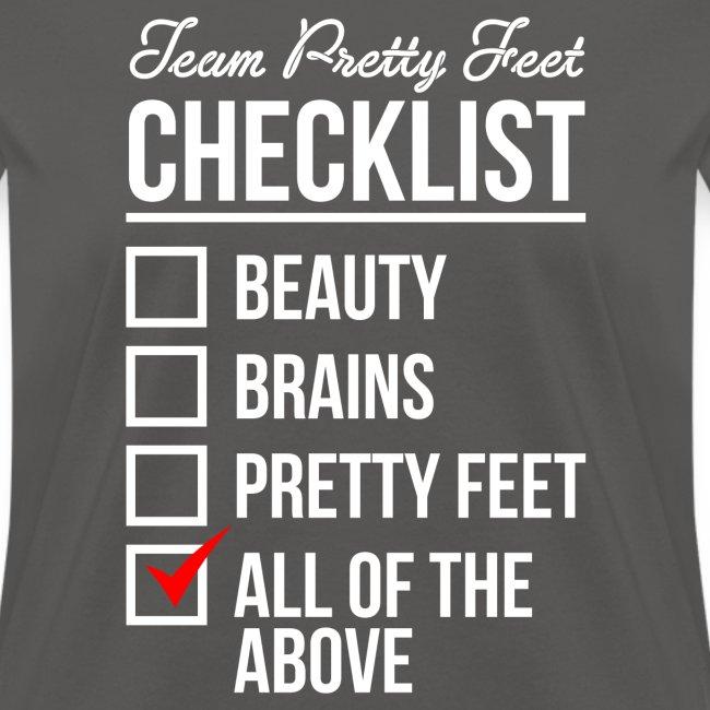 TEAM PRETTY FEET Checklist
