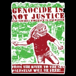 Genocide is not justice, end israeli violence in Palestine. From the river to sea, Palestine will be free!