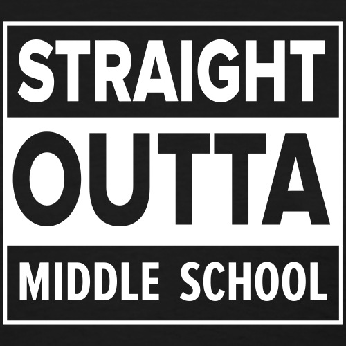 straightoutta middle - Women's T-Shirt