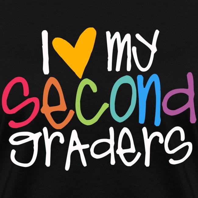 I Love My Second Graders Teacher Shirt - Womens T-Shirt | Teacher T-Shirts