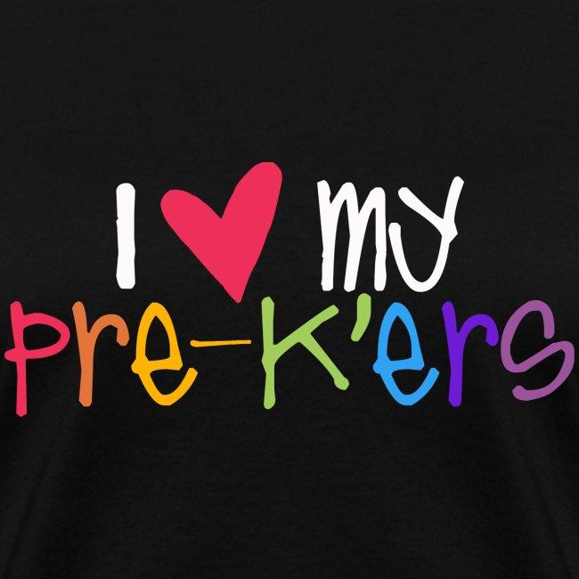 I Love My Pre-K'ers Teacher T-Shirts