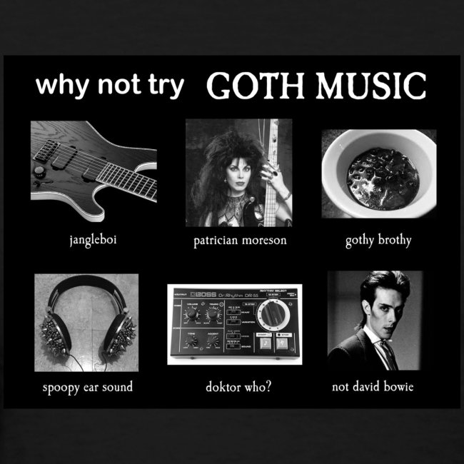 Why not try GOTH MUSIC?