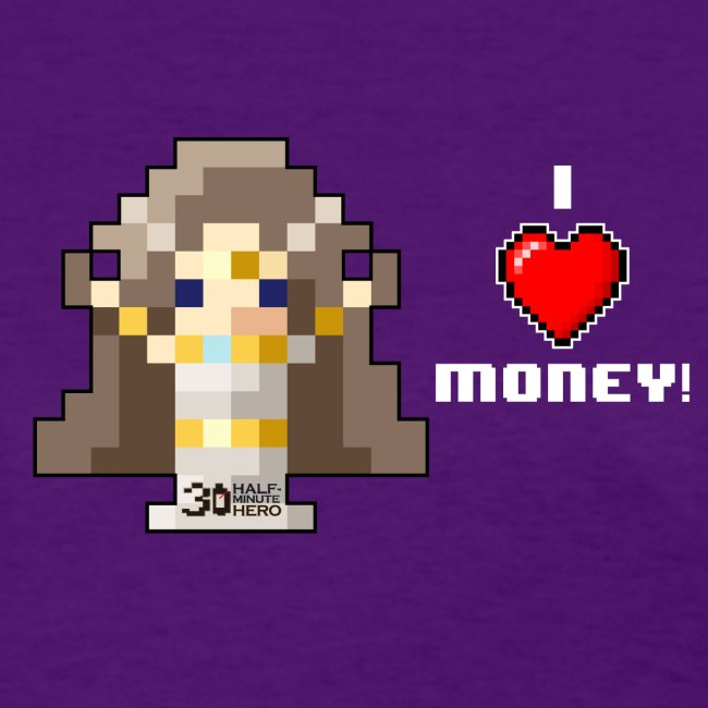 Time Goddess - I HEART Money (White text)