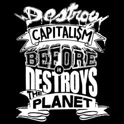 Destroy capitalism before it destroys the planet