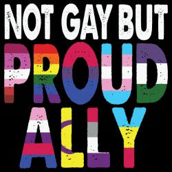 Not gay but proud ally
