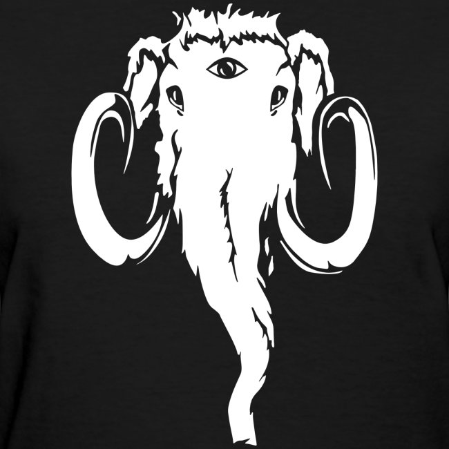Just Mammoth white on transparent png
