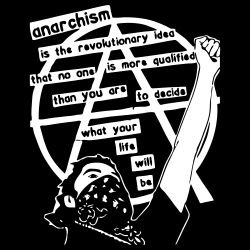 Anarchism is the revolutionary idea that no one is more qualified than you are to decide what your life will be