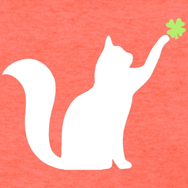 Cat and 4 Leaf Clover