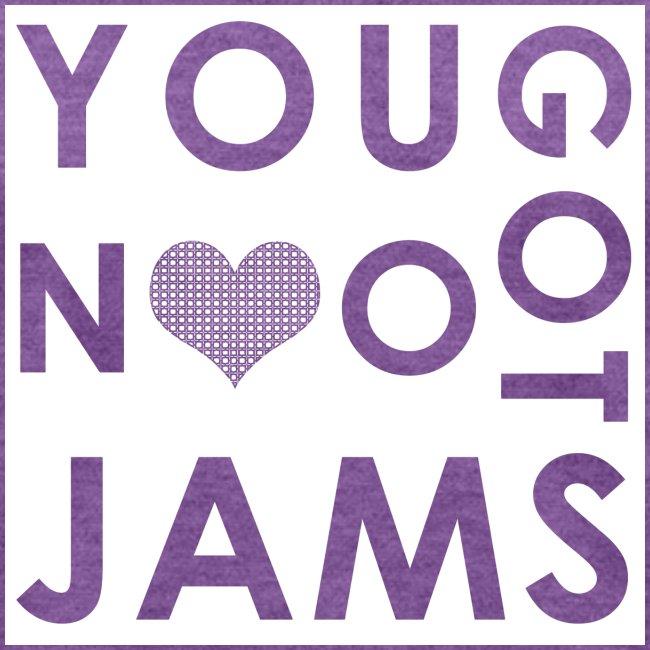 NO JAMS White Cutout
